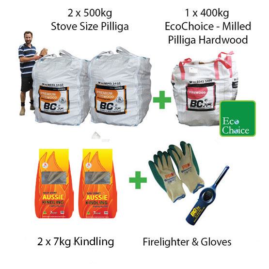 Firewood Pilliga Stove Size Mega Pack (FAA Approved)